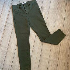 LOFT Green Ankle Skinny Jeans Size 6